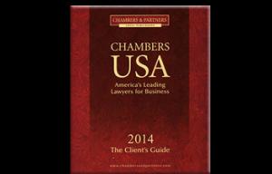 Chambers USA America's Leading Lawyers for Business burgundy Logo