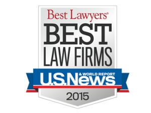 US News 2015 Best Law Firm Award Gutter Chaves Josepher Rubin Forman Fleisher Miller P.A.
